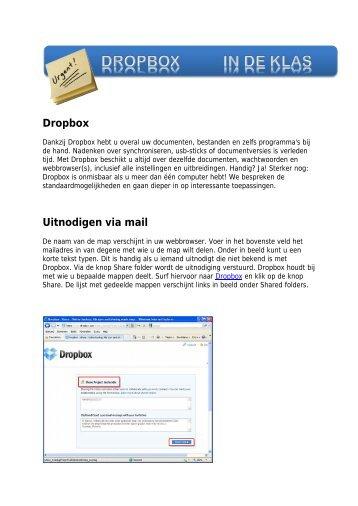 Dropbox Uitnodigen via mail - Technopolis