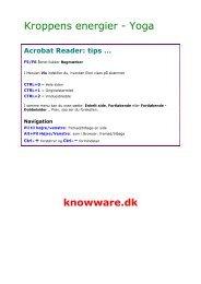 Kroppens Energier - Yoga øvelser - PDF - KnowWare