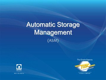 Automatic Storage Management - Midwest Oracle Users Group