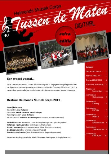 Tussen de Maten Digitaal 2012 #1 - Helmonds Muziek Corps