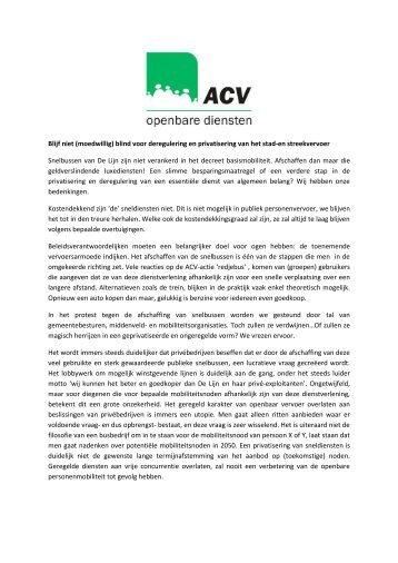 Blijf niet - ACV Openbare Diensten