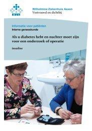 nuchter voor onderzoek/operatie bij insuline - Diabeteszorgbeter
