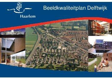 Beeldkwaliteitplan deel 1 - Delftwijk
