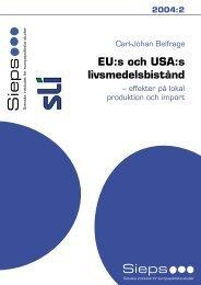 EU och USA:s livsmedelsbistånd - Sieps