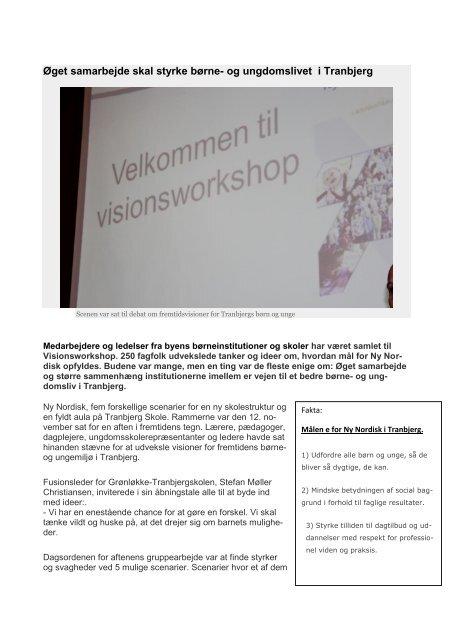 Øget samarbejde skal styrke børne- og ungdomslivet i Tranbjerg