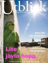 PDF - tidskriften Utblick - Josephine Freje