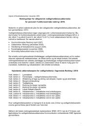 Vedligeholdelsesuddannelse 2010 (pdf) - Beredskabsstyrelsen