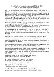 Beretning til generalforsamling lørdag d.9 februar ... - Marstal Sejlklub