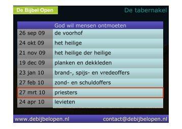 priesters - De Bijbel Open