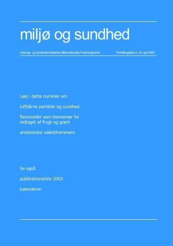 Sundhedsstyrelsens Rådgivende Videnskabelige Udvalg for Miljø ...