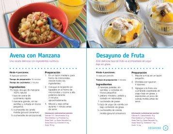 Avena con Manzana Desayuno de Fruta - Campeones del Cambio