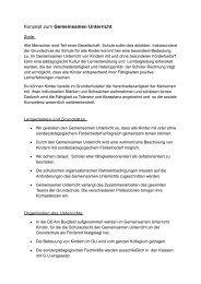Konzept zum Gemeinsamen Unterricht - Grundschule am Burgfeld