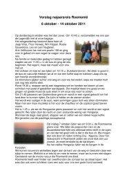 Verslag najaarsreis 2011 - Draagt Elkanders Lasten