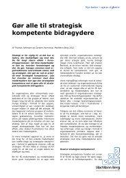 Gør alle til strategisk kompetente bidragydere - MacMann Berg