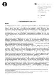 Afgørelse af 6. april 2005 (j.nr. 780.2) - Klagekomitéen for Etnisk ...