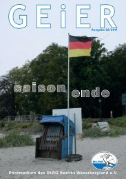 Geier Ausgabe 2/2011 - Bezirk Weserbergland - DLRG