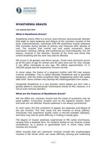 Myasthenia Gravis - Muscular Dystrophy Association of New Zealand