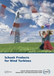 Schunk Products for Wind Turbines