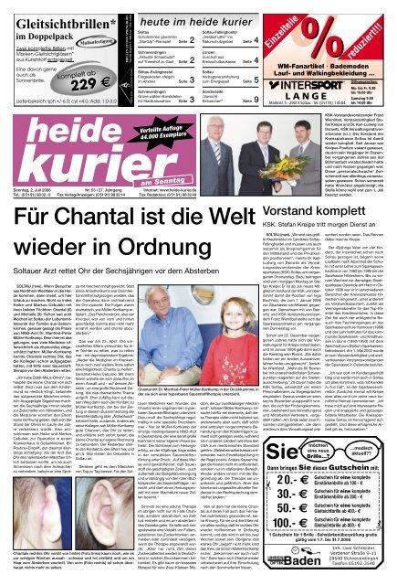 Chantal Ordnung In Welt Wieder Heide Kurier Für Die Ist WEbH9YD2Ie
