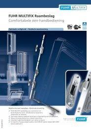 FUHR MULTIFIX Raambeslag Comfortabele één-handbediening