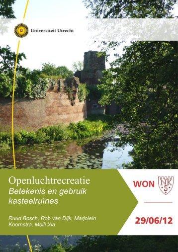 Openluchtrecreatie II Betekenis en gebruik kasteelruines - Kastelen