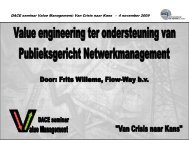 Value engineering ter ondersteuning van ... - Flow-Way