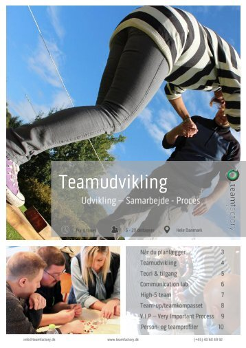 Teamudvikling koncepter