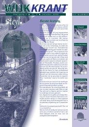 Jaargang 7 nr 3 oktober 2008 - Wijkraad Steyl