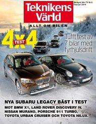 Tufft test av 7 bilar med fyrhjulsdrift - Subaru