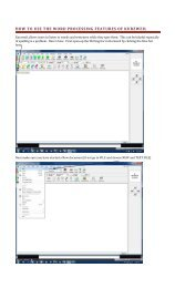 How to write using the word processor features of Kurzweil