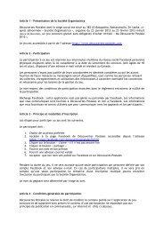 Article 1 - Présentation de la Société Organisatrice Découvertes ...
