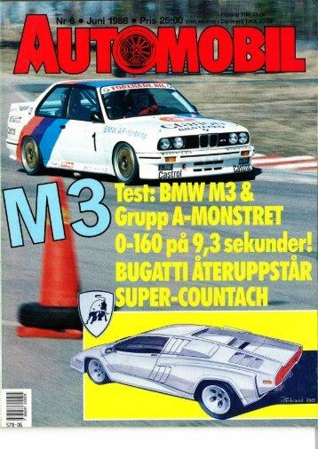 1988 - Svenska M3 E30 Registret