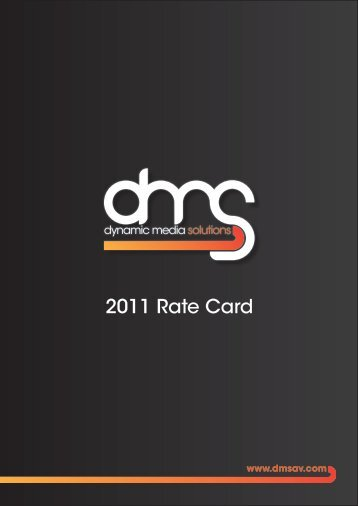 2011 Rate Card - Dynamic Media Solutions