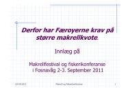 Derfor har Færoyerne krav på større makrellkvote.