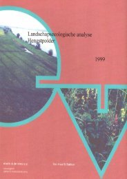 (1999). Landschapsecologische analyse Hengstpolder. Rapport EV99