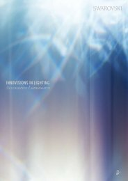INNOVISIONS IN LIGHTING Accessories Luminaires - Swarovski