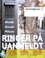 Socialrådgiveren nr. 10-2011 - Dansk Socialrådgiverforening