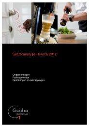Sectoranalyse Horeca Ondernemingen 2012 - Guidea