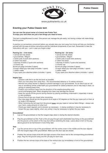 Erecting your Pukka Classic tent Pukka Classic - Pukka Tents  sc 1 st  Yumpu & Pukka Magazines