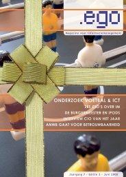 ONDERZOEK VOETBAL & ICT - ego Magazine