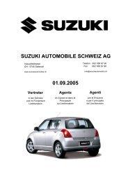 SUZUKI AUTOMOBILE SCHWEIZ AG 01.09.2005