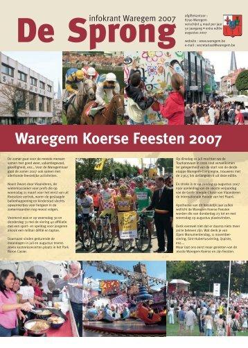 Waregem Koerse Feesten 2007 - stad Waregem