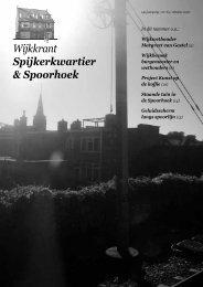 Wijkkrant Spijkerkwartier & Spoorhoek