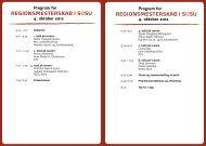 Program for regionsmesterskab isosU 4. oktober 2012 - SOSU Nord