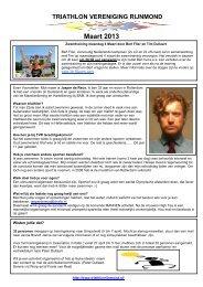 6e nieuwsbrief 29 maart 2012 - Triathlon Vereniging Rijnmond