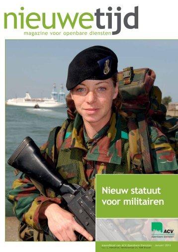Nieuw statuut voor militairen - ACV Openbare Diensten