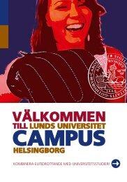 välkommen - Campus Helsingborg - Lunds universitet