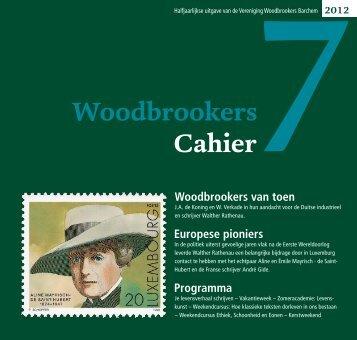 WoodbrookersCahier nummer 7 - Vereniging Woodbrookers Barchem