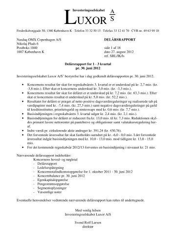 fondsb medd 30 juni 2012.pdf - Luxor A/S