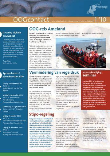 Nieuwsbrief OOGcontact uitgave nr.1 2010
